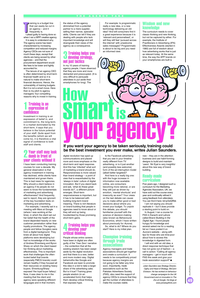 How smart is your agency - Julian Saunders